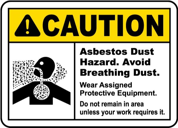 Caution Asbestos Warning